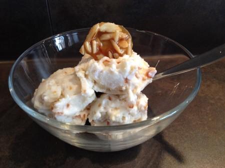 Frozen Yoghurt mit Mandelkrokant