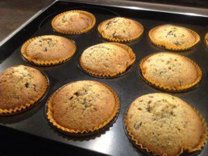 Haselnuss-Stracciatella-Muffin