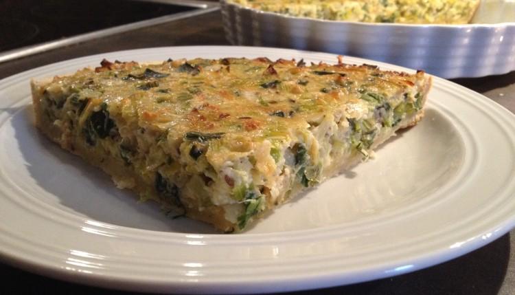 Käse-Lauch-Quiche